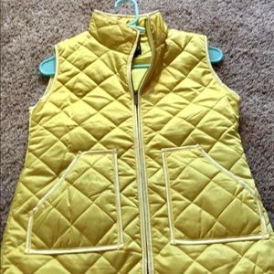 Yellow Puffer Vest - size Small